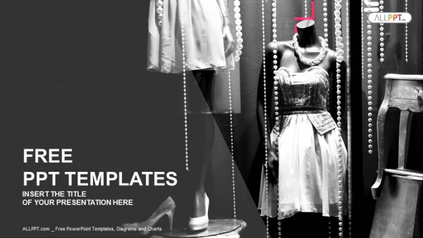 Boutique display window with mannequins in fashionable for Fashion designing templates free download
