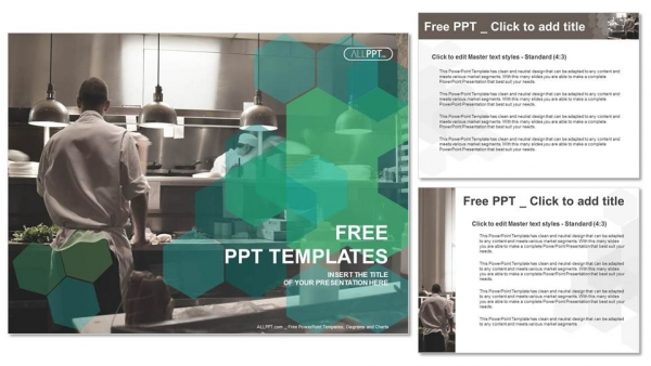 commercial kitchen design ppt motion chefs of a restaurant kitchen powerpoint templates 375