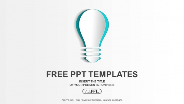 Abstract paper idea bulb PowerPoint Templates (1)