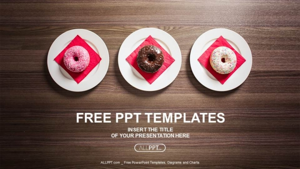 Colorful donuts on the plate PowerPoint Templates (1)