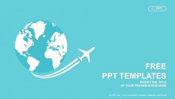 Jet airplane travel on Earth PowerPoint Templates (1)