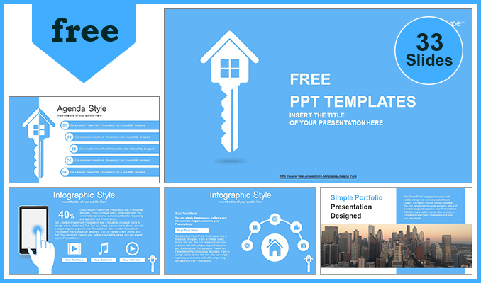 Free Portfolio Powerpoint Template For Students