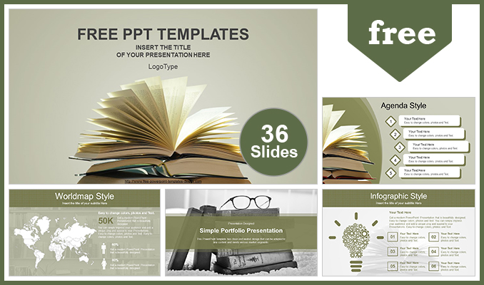 Vintage Old Books Powerpoint Template