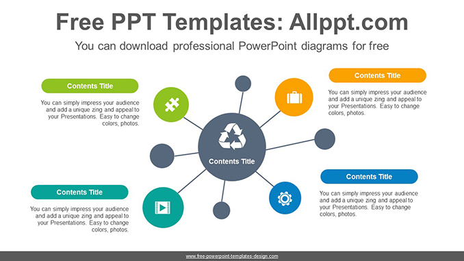 Circle mindmap powerpoint diagram template for Mind map template powerpoint free download