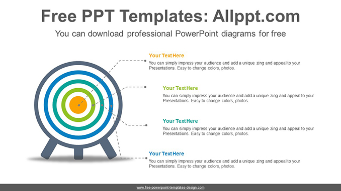 Color Changeable Target Powerpoint Diagram Template