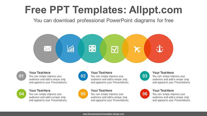 Colorful Bubble List Powerpoint Diagram Template