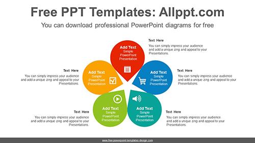 Five Petals Flower Point Diagram Template List Image