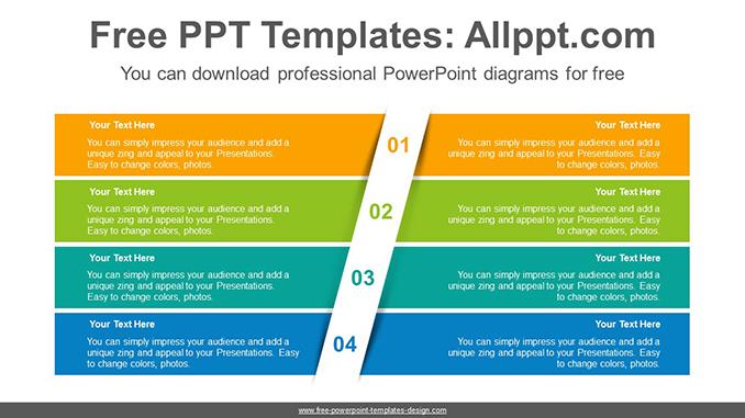 Four split banners PowerPoint Diagram Template
