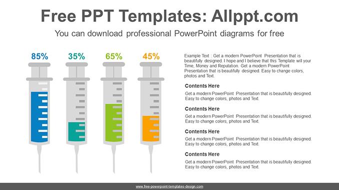 medical syringe chart powerpoint diagram template. Black Bedroom Furniture Sets. Home Design Ideas