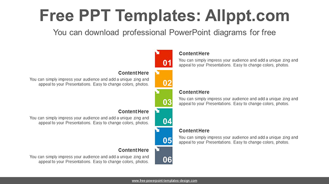 Numbering Square List Powerpoint Diagram Template
