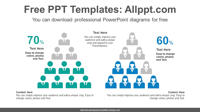 People Pyramid Chart Powerpoint Diagram Template