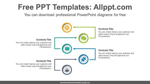Arrow Flow Powerpoint Diagram Template
