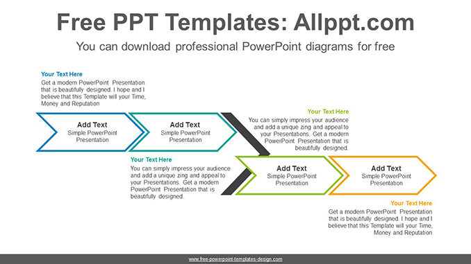 chevron arrow powerpoint diagram template