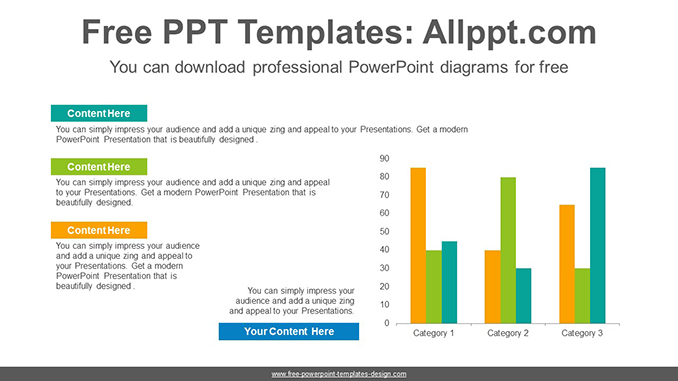 clustered bar graph powerpoint diagram template