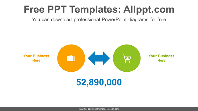 Double Sided Arrows Powerpoint Diagram Template