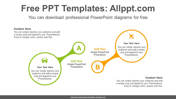 Magnifying Glass Powerpoint Diagram Template