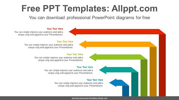 Origami Arrow Powerpoint Diagram Template