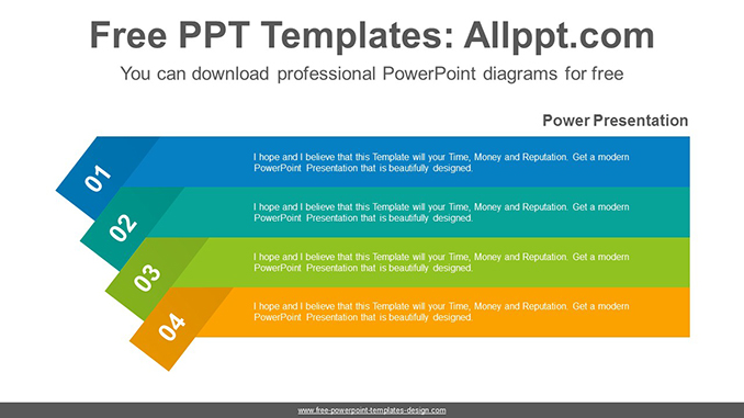 Origami Banner Powerpoint Diagram Template
