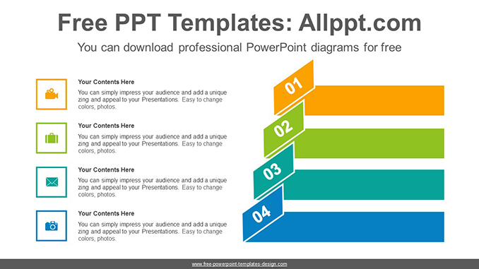 Origami Banner Numbering Powerpoint Diagram Template