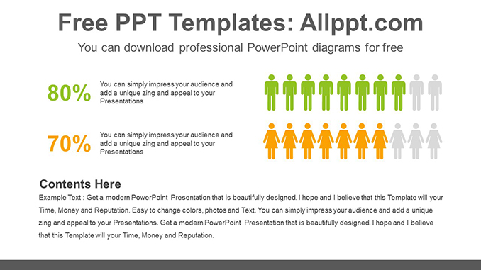 People Icon Chart Powerpoint Diagram Template