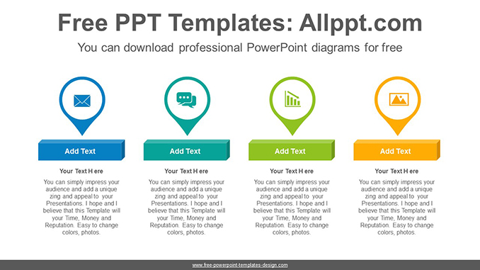 Placemark Icon Powerpoint Diagram Template