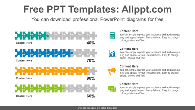 Puzzle chart PowerPoint Diagram Template