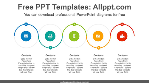 serpentine flow course powerpoint diagram template