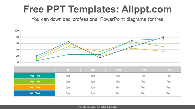 Table line chart PowerPoint Diagram Template