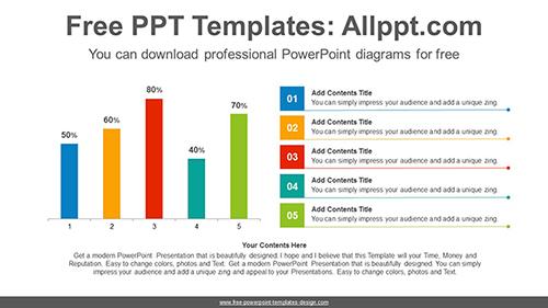 vertical bar chart powerpoint diagram template