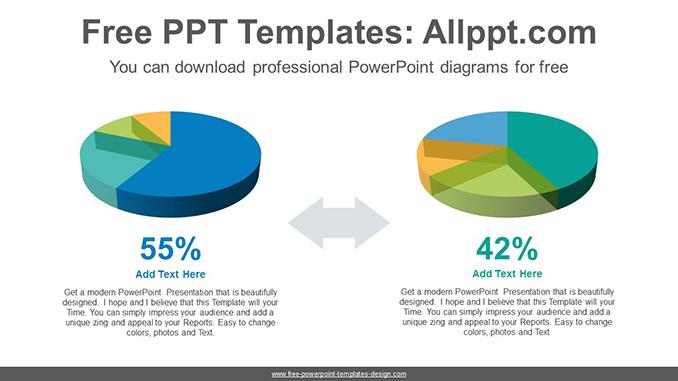 3d Pie Charts Powerpoint Diagram Template