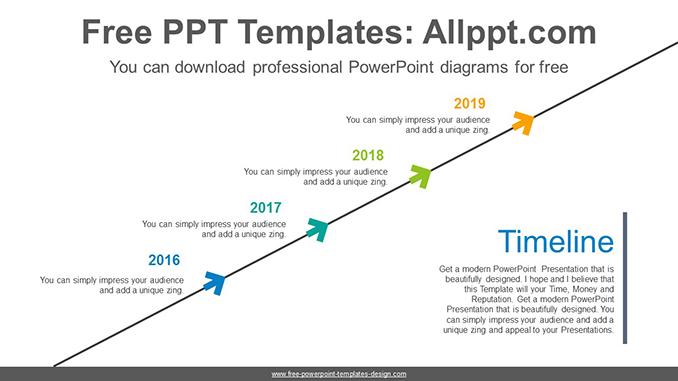 Ascending chevron PowerPoint Diagram Template
