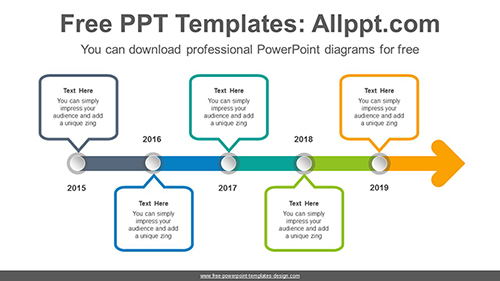 Dot Point Arrow Powerpoint Diagram Template