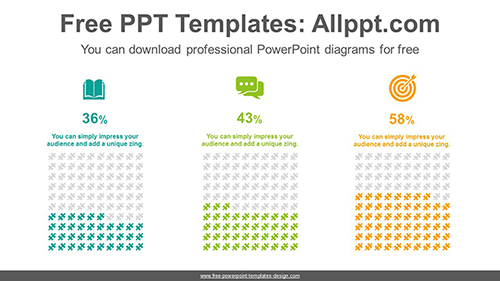 Equalizer puzzle charts PowerPoint Diagram Template