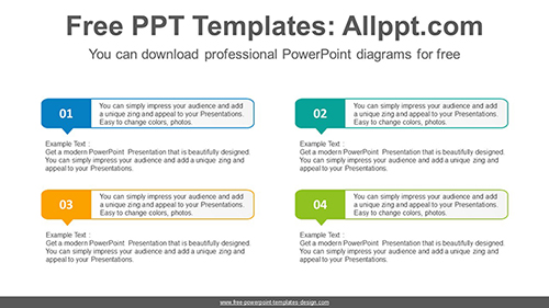 Numbered Text Box Powerpoint Diagram Template