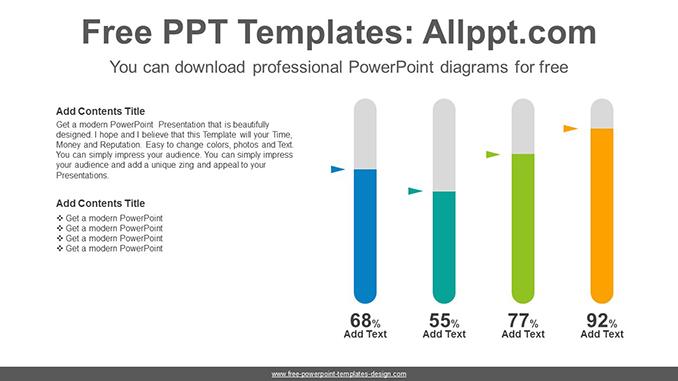 Oval bar chart PowerPoint Diagram Template