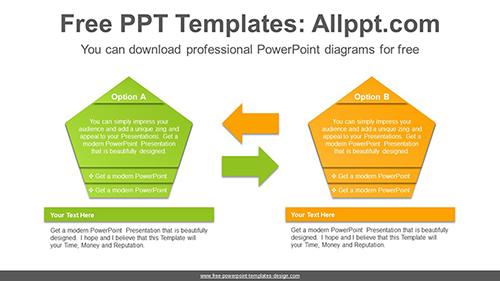 Pentagonal Text Box Powerpoint Diagram Template