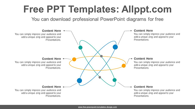 Radial Network Powerpoint Diagram Template