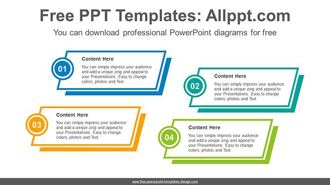 Rectangular Banner Powerpoint Diagram Template