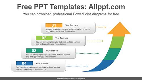 Rising arrow PowerPoint Diagram Template
