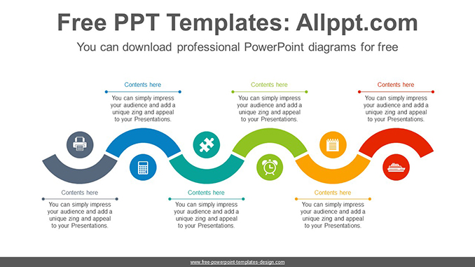 Snake wave line PowerPoint Diagram Template