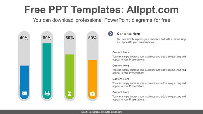 Test Tube Bar Chart Powerpoint Diagram Template