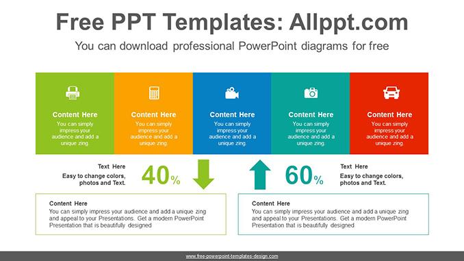 Up Down Comparison Powerpoint Diagram Template