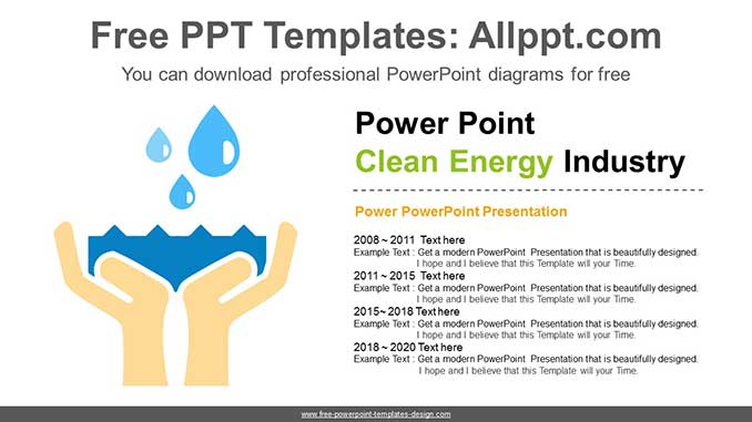 Clean Water Powerpoint Diagram For Free