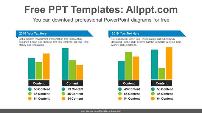 Comparative Bar Chart Ppt Diagram For Free