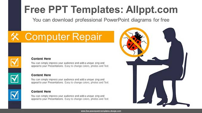 Computer Bug Recovery Powerpoint Diagram For Free