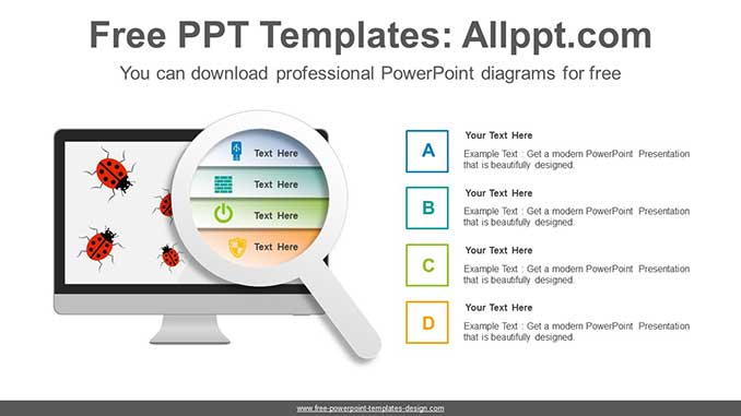 Computer Bugs Recovery Powerpoint Diagram For Free