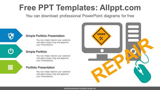 Computer Recovery Powerpoint Diagram For Free