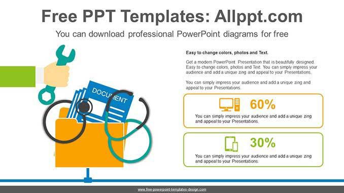 Computer Repair Powerpoint Diagram For Free