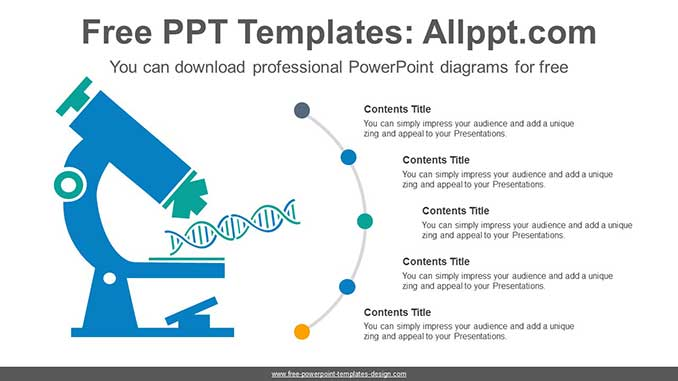 Dna Analysis Microscope Ppt Diagram For Free