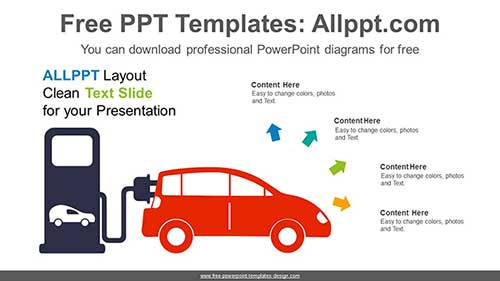 Electric Vehicle Charging PowerPoint Diagram for freeFree PowerPoint Templates Design